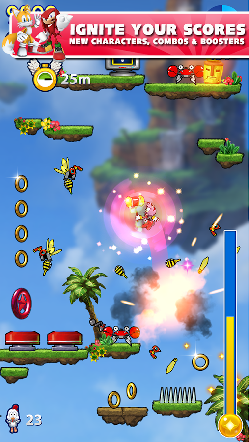 Screenshots of Sonic Jump Fever for iPhone