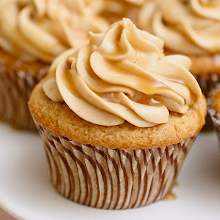 Triple Butterscotch Cupcakes.