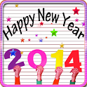 Happy New Year theme Go Locker icon