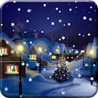Snow Night City live wallpaper icon