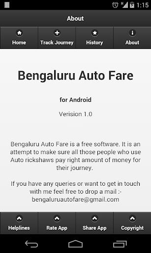 Bengaluru Auto Fare 2.0
