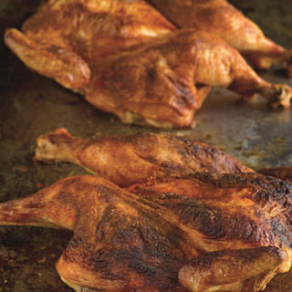 Roast Chicken with Spanish Paprika and Herb-Roasted Smashed Potatoes.