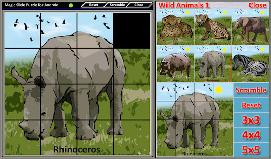 Magic Slide Puzzle W.Animals 1 Screenshot 20