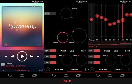 Skin for Poweramp KK Red  screenshots 4