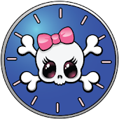 Girly Skull Clocks - FREE