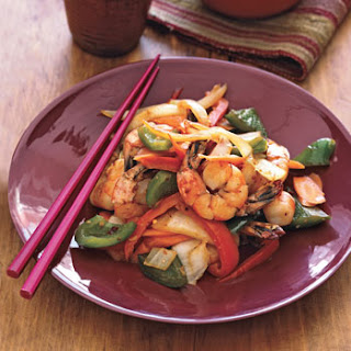 Spicy Shrimp and Vegetable Stir-Fry.