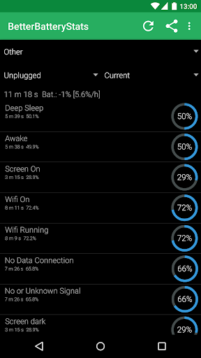 Screenshot for BetterBatteryStats in Hong Kong Play Store