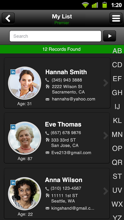 Intelius People Search/Call ID - screenshot