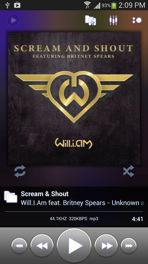 Poweramp Music Player (Trial) - screenshot