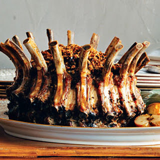 Crown Roast of Pork with Onion and Bread-Crumb Stuffing