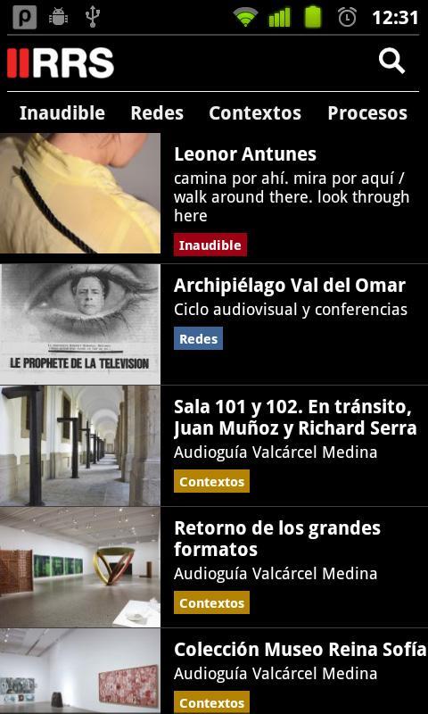 RRS Radio Museo Reina Sofía - screenshot