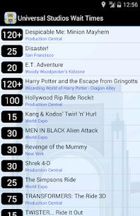 Universal Orlando Wait Times - screenshot thumbnail