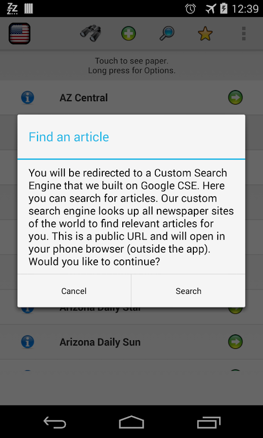 All Newspapers of Arizona-Free - screenshot