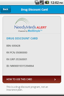 NeedyMeds Alert - screenshot thumbnail