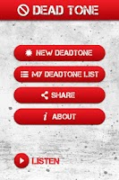 Screenshot of Dead Tone App