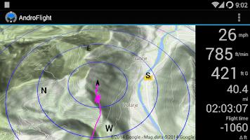 Screenshot of AndroFlight