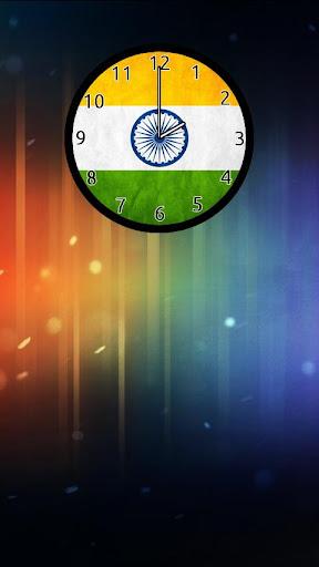 Indian Flag Analog Clock