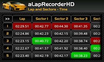 Screenshot of aLapRecorder HD