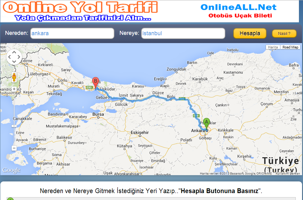 Yol Tarifi By OnlineALL - screenshot