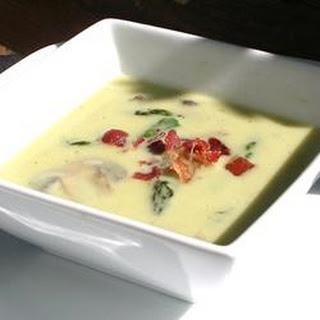 Cream of Asparagus and Mushroom Soup.