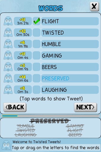 Twisted Tweets Word Search 1.0.5 screenshots 10