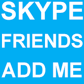 Skype Friends Add Me