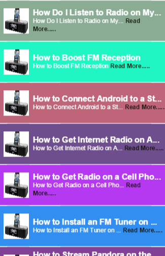 Radio Tuner for phone