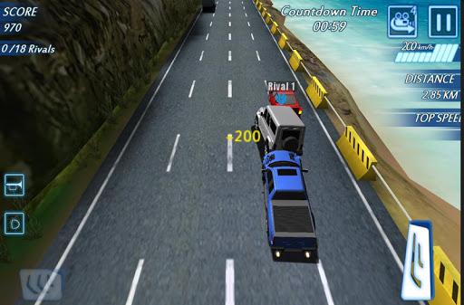 ハイウェイレーシング:交通ラッシュ