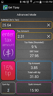Get Tipsy Tip Calculator- screenshot thumbnail