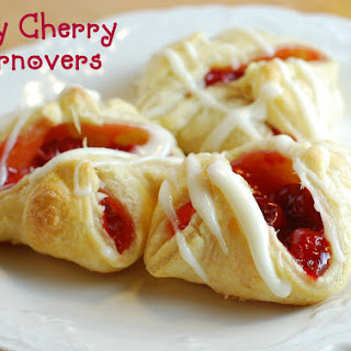 Easy Cherry Turnovers with Puff Pastry.