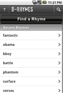 B-Rhymes Dictionary – Vignette de la capture d'écran