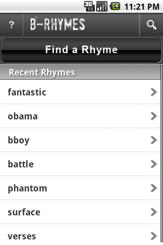 B-Rhymes Dictionary – Capture d'écran