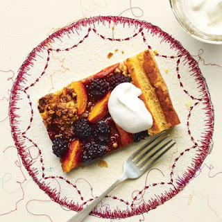 Apricot-Blackberry Puff Pastry Tart.