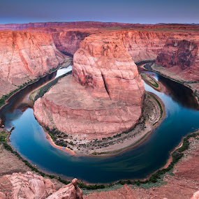 Horseshoe Sunrise by Adam Collins - Landscapes Mountains & Hills ( az, colorado river, page, arizona, sunrise, horseshoe bend )