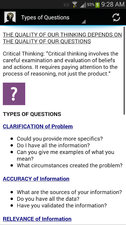 critical thinking in daily life 2 simple critical thinking activities that teach logic skills you can apply in the  classroom, at the office, and in daily life try one, and train your.