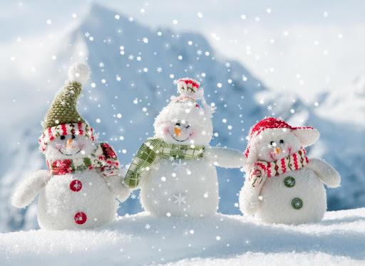 snowman christmas wallpaper