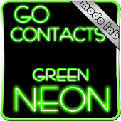 Green Neon GO contacts theme
