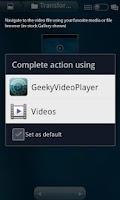 Screenshot of Geeky Video Player Free