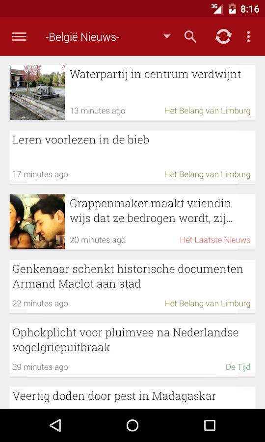 België Nieuws- screenshot