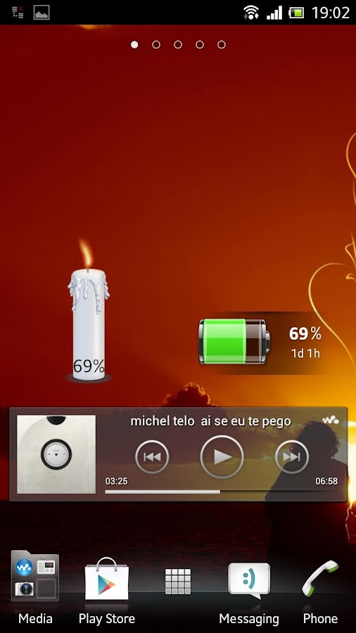 Candle battery widget- screenshot