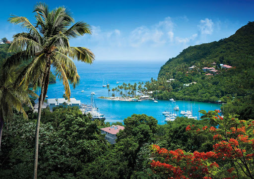 Marigot Bay on the Caribbean island nation of St. Lucia.