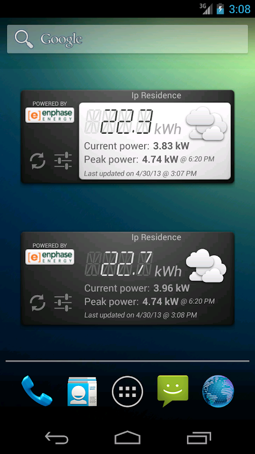 SolarTracker Widget - screenshot