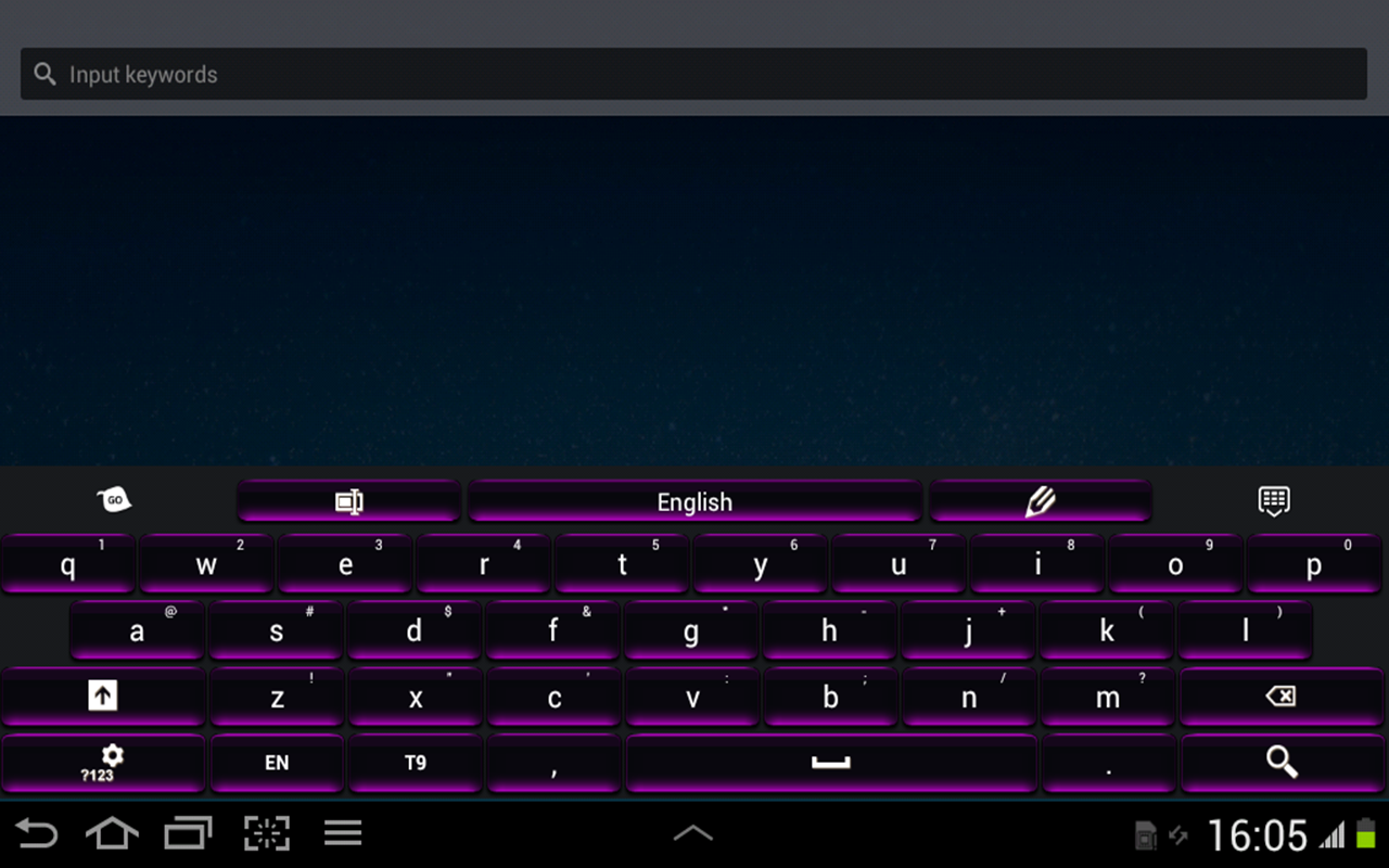 Black and Purple Keyboard - screenshot