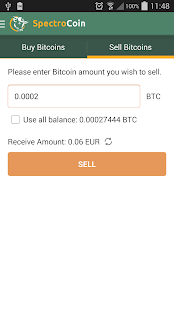 SpectroCoin - Bitcoin wallet- screenshot thumbnail