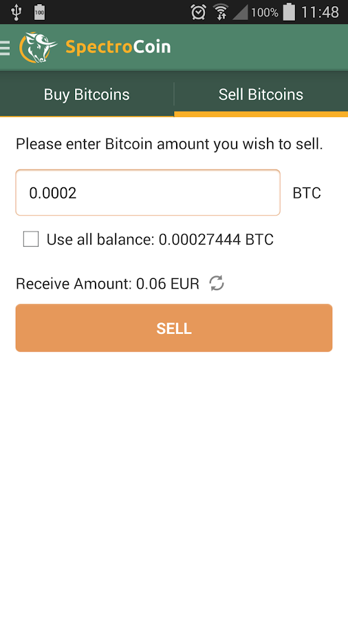 SpectroCoin - Bitcoin wallet- screenshot
