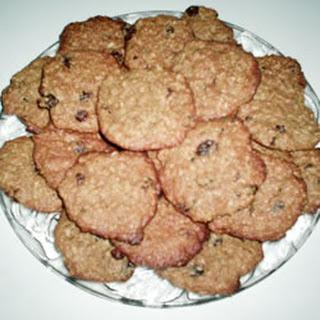 Raisin Peanut Butter Bran Cookies.