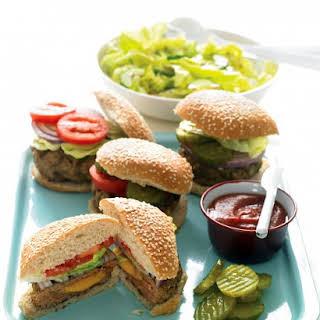 Cheddar-Stuffed Burgers.