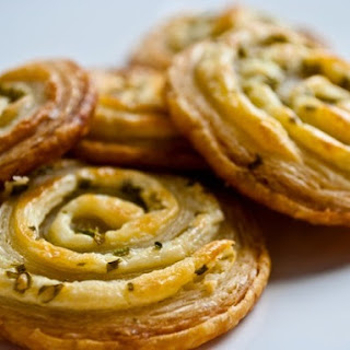 Cream Cheese and Chive Pastry Pinwheels.