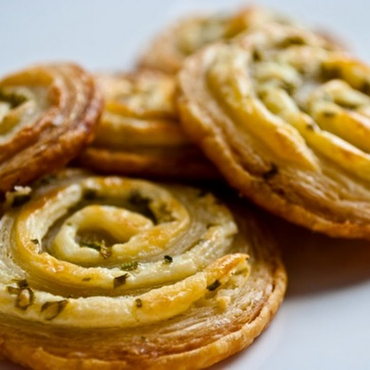 Cream Cheese and Chive Pastry Pinwheels Recipe