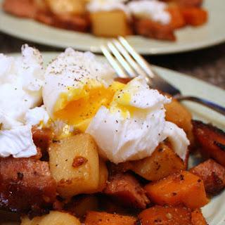 Kielbasa and Sweet Potato Hash